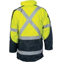 "DNC 3998 HiVis Cross Back 2 Tone D/N ""6 in 1"" Contrast Jacket 2"
