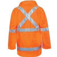 "DNC 3999 HiVis Cross Back D/N ""6 in 1"" Jacket (Outer Jacket and Inner Vest Can Be Sold Separately) 1"