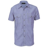 Mens Twin Flap Pocket- Chambray