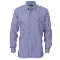 Mens Twin Flap Pocket Cotton Chambray
