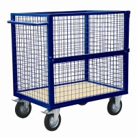 Cage Trolley with Fold Down Side
