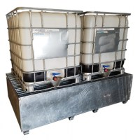 Galvanised Double IBC Bund