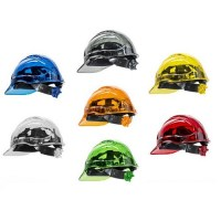 Clearview Hard Hat Vented Safety Helmet- with Ratchet Mech
