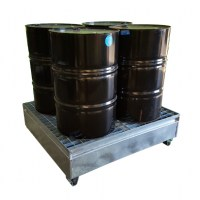 4 Drum Bund - Galvanised Metal