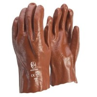 Glove - PVC Red 27cm L (Pack of 12)