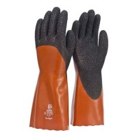 Frontier Coral Chemical Glove. 35cm. Red/Black.L (Pack of 12)