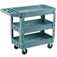 250KG 3 Tier Plastic Utiilty Trolley 950x650mm